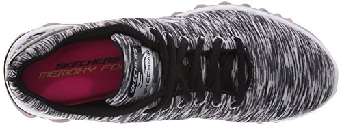 Skechers Sport Donna Skech Air Run Sneaker Alta Moda Nero / Bianco