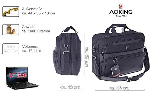 17 Zoll/17,3 NOTEBOOKTASCHE 17 Zoll Notebook Laptop Tasche Messenger Bag in Schwarz Notebooktasche Laptoptasche