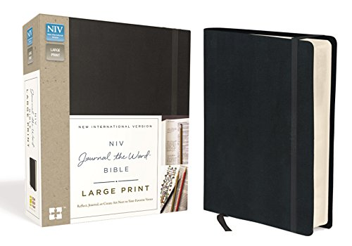 - NIV, Journal the Word Bible, Large Print, Hardcover, Black: Reflect, Journal, or Create Art Next to Your Favorite Verses