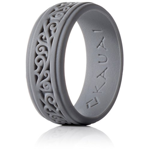 KAUAI - Silicone Wedding Rings Elegance Timeless Collection. Leading Brand, from The Latest Artist Design Innovations to Leading Edge Comfort ()