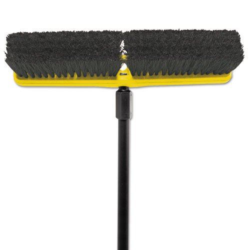 Rubbermaid Commercial Tampico-Bristle Medium Floor Sweep, 18'' - Includes one each.