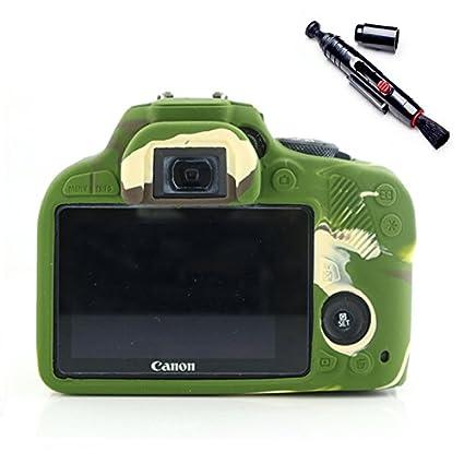 Suave silicona goma funda para cámara funda para Canon 100d ...