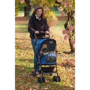 Pet Gear Pg Happy Trails Stroller Cobolt Blue