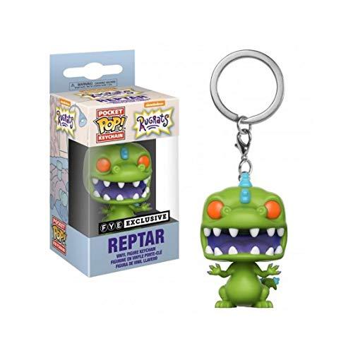 Funko POP Keychain: Reptar - Nickelodeon Rugrats - FYE Exclusive ()