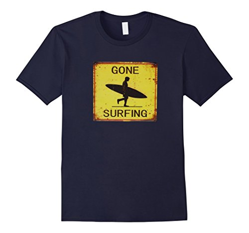 Mens Gone Surfing Surf California Surf Hawaii Vintage Sign Tee XL - Surf Gone Sign Surfing