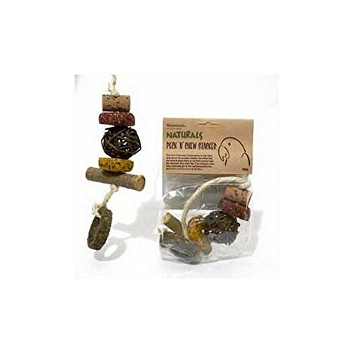 Rosewood Naturals Peck 'n' Chew Stacker 100g (125g) (Pack of 2) by Rose&Wood
