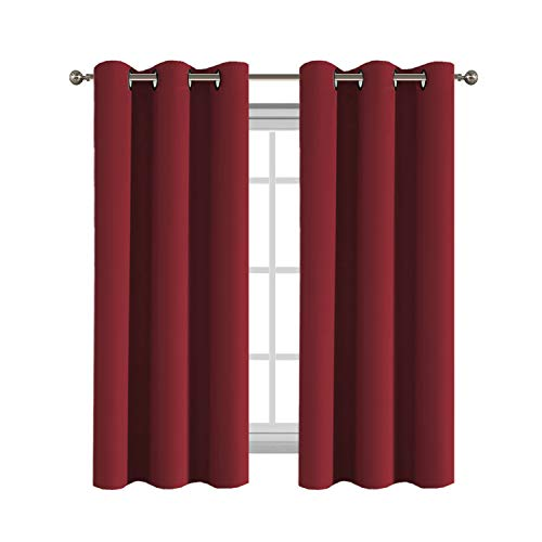 Flamingo P Home Fashion Thermal Insulated Solid Grommet Blackout Curtain Panels for Bedroom/for Living Room Energy Saving Light Blocking Curtain/Drape (One Panel
