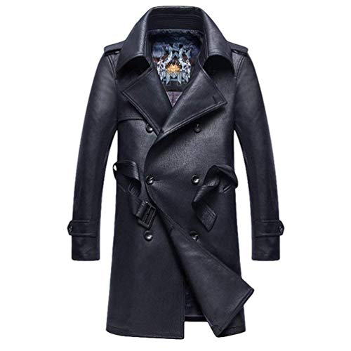 Mens Parka Pu Marine Jackets Leather Winter Huixin Men's Jacket Windbreaker Leather Warm Apparel Outwear Coats Faux Coat Men's Leather q4OzP7