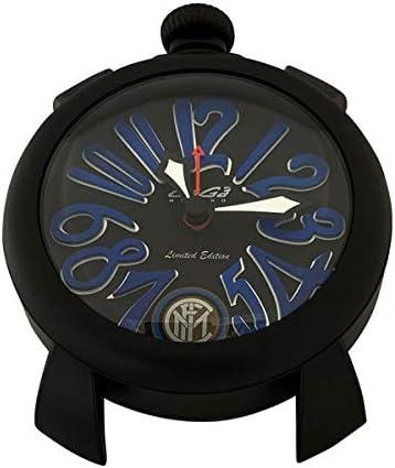 GaGa MILANO ガガミラノ 9082IN インテルミラノ コラボ 黒 目覚まし時計 テーブルクロック 置時計 【並行輸入品】