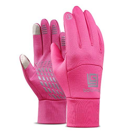 Men Women Waterproof Touch Screen Cycling Wind-Proof Thermal Snowboard Fleece Ski Gloves showed1 L