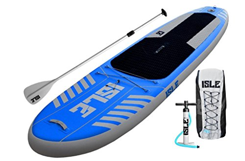 "ISLE Airtech 10' Inflatable Stand Up Paddle Board (6"" Thick) 