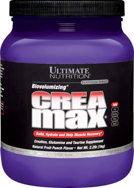 Ultimate Nutrition CreaMax Creatine Monohydrate and BCAA Supplement - Boost Performance, Build Muscle, and Reduce Recovery Times, 2.2 Pounds, Fruit -