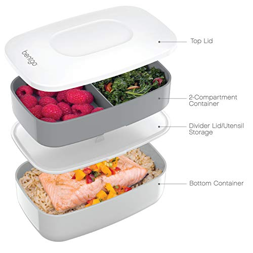 Bentgo Classic (Gray) - Stackable Bento Lunch Box