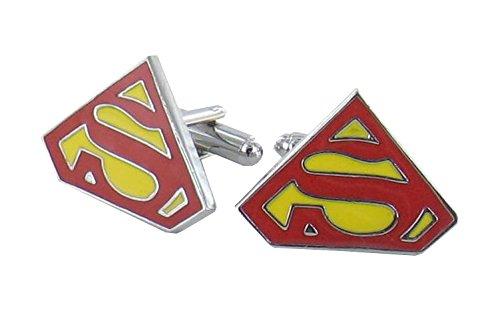 Superheroe Superman Mancuernas Rojas Caja De Regalo De Lujo