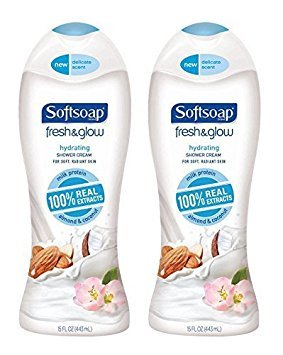 Softsoap Fresh & Glow Body Wash - Hydrating Shower Cream - For Soft, Radiant Skin - 100% Real Extracts - Net Wt. 15 FL OZ (443 mL) Each - Pack - Wash Hydrating Body Softsoap