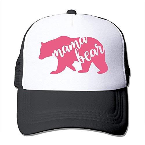 (Sandra .W Mama Bear Polyester Unisex Adjustable Size Mesh Back Trucker Caps Trucker Hat Cap)