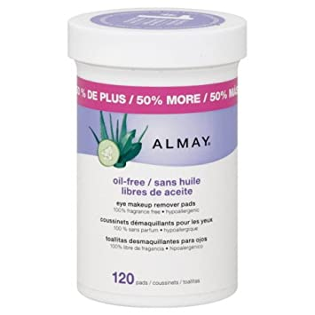 Amazon.com : Almay Oil-Free Eye Makeup Remover Pads 120 Count (2-Pack) : Beauty