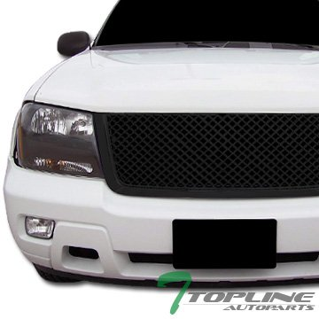 Chevy Trailblazer Ext Lt - Topline Autopart Black Mesh Front Hood Bumper Grill Grille ABS For 06-09 Chevy Trailblazer LT ; 2006 Trailblazer EXT LT