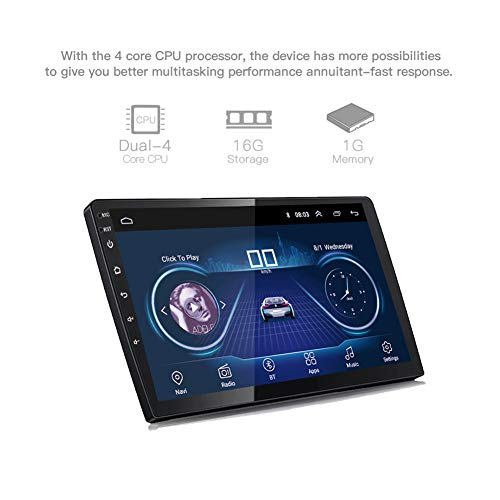 DZSF 10 Inch Android 8.1 Universal Car GPS Navigation Radio Android Car Radio DVD Player Navigation WiFi Bluetooth MP5 Player Rear CAM