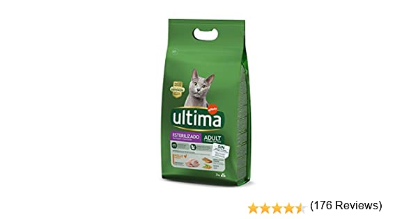 Ultima Pienso para Gatos Esterilizados Adulto con Pollo: Amazon.es ...