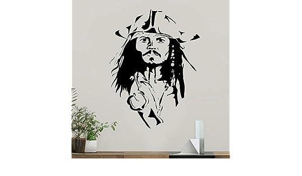 Jack Sparrow Tatuajes de Pared Piratas Del Caribe Pegatinas ...