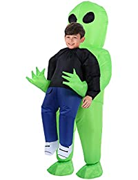Inflatable Costume | Inflatable Alien Rider Costumes for Child | Halloween Costume Cosplay Party