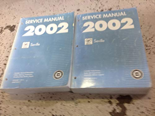2002 Cadillac SEVILLE Service Repair Shop Manual Set FACTORY OEM 02 BOOKS (2 volume set)