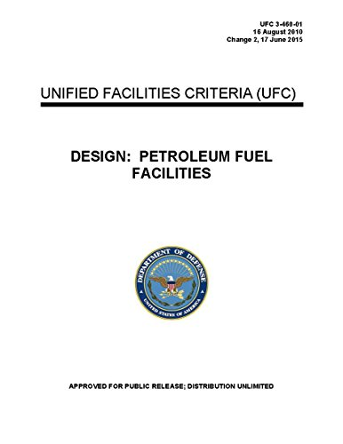 DESIGN: PETROLEUM FUEL FACILITIES (2015) UFC 3-460-01 16 August 2010 Change 2, 17 June 2015 UNIFIED FACILITIES CRITERIA (UFC) (LOOSE LEAF EDITION) (Ufc 3 460 01 Petroleum Fuel Facilities)