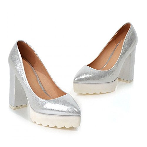 Thick Heel High sliver Shoes Thin Casual 36 Sole Pointed frRCqxTfw