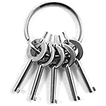 ASR Tactical Standard Issue Universal Law Enforcement Handcuff Key 5 Pack