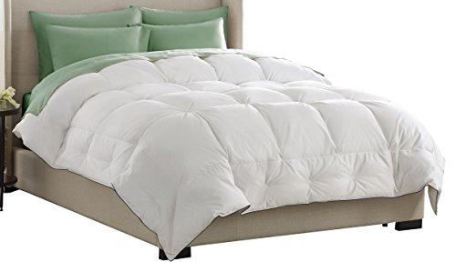 Pacific Coast Feather Company 67831 SuperLoft White Down Comforter, Cotton Cover, Hypoallergenic, King