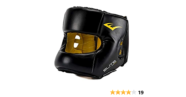EVERLAST ELITE HEADGEAR Medium Large Black Maximum Protection New Retail $68