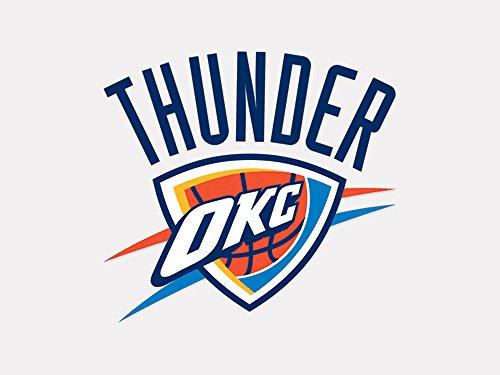 Nba Basketball Car Decal (NBA Oklahoma City Thunder 21761010 Perfect Cut Color Decal, 4