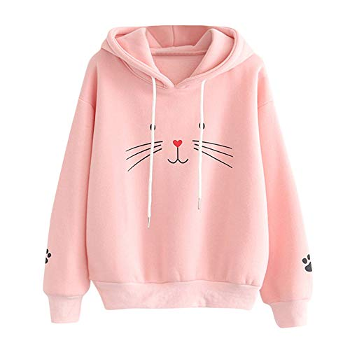 Sale! Teresamoon Fashion Casual Womens Long Sleeve Sweatshirt Jumper Pullover Print Blouse ()