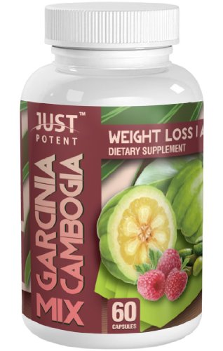 Garcinia Cambogia Mix Par Juste puissant. 1000mg Garcinia Cambogia (65% HCA) :: 200mg de 200mg de café vert de cétones de framboise. Trio de perte de poids superpuissances