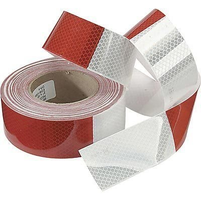 ABN Reflective Conspicuity Tape - 2in X 150 Feet - DOT Reflective Red/White C2 Trailer: Automotive