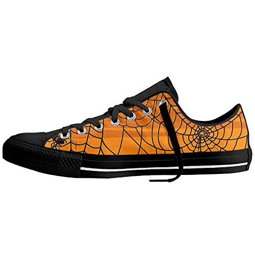 Halloween Spider Webs Low-Cut Canvas Shoes Unisex Sneaker-All Season Casual Trainers For Men And Women ColourName (Parks And Recreation Halloween Gif)