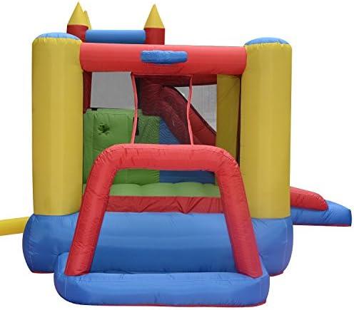Amazon.com: ferty Bounce Casa Castillo w/Hoop, Kids Moonwalk ...