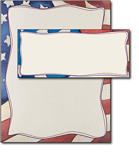 Patriotic Stationery & Envelopes - 40 Sets