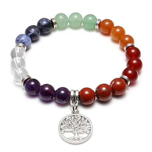 Chakras Gemstone Meditation Balancing Bracelet