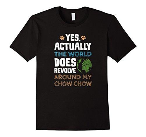 Mens Funny Chow Chow Dog TShirt Gifts Men Women 2XL Black