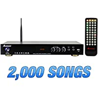 Acesonic KOD-6000 Hard Drive Multimedia Karaoke 4K UHD h.265 Player with 2,000 Fully Licensed English Songs from Karaoke Cloud