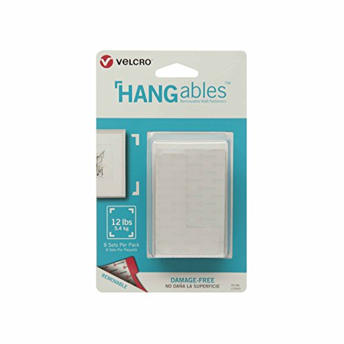 VELCRO Brand - HANGables - Removable Wall Fasteners, Corners -