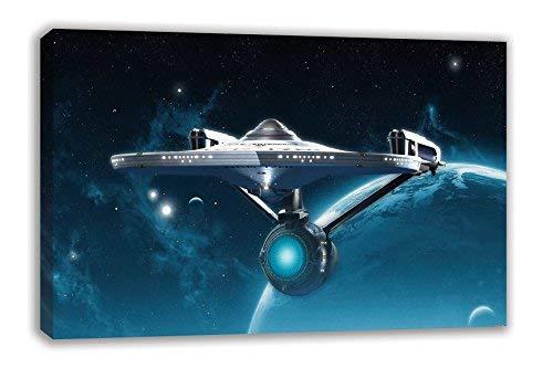 (STAR TREK BEYOND USS ENTERPRISE CANVAS WALL ART (44
