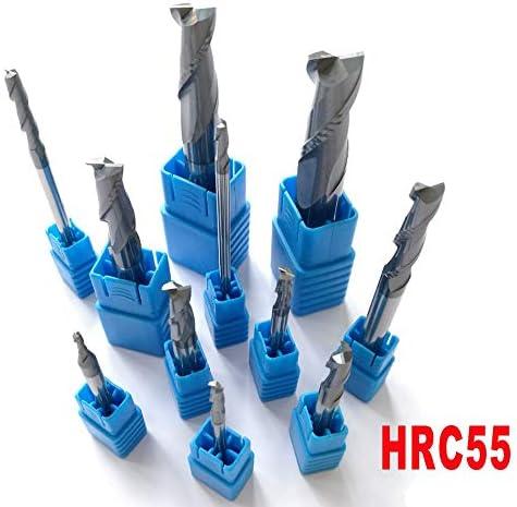 GENERICS LSB-Werkzeuge, 2mm 3mm 4mm 5mm 6mm 8mm 10mm 12mm 2 Flöten HRC55 Hartmetall Flache Vierkantfräser Spiralbohrer CNC-Schaftfräser (Cutting Edge Diameter : 4mm X 75L)