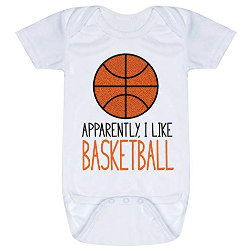 - ChalkTalkSPORTS Basketball Baby & Infant Onesie   Apparently, I Like Basketball   Small White