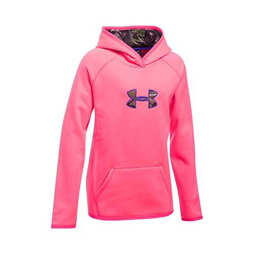Under Armour Girls' Icon Caliber, Penta Pink, Youth X-Large