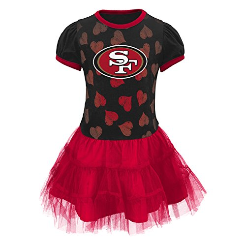 Outerstuff NFL San Francisco 49ers Toddler Girls Love to Dance Tutu Dress, 2T, Crimson