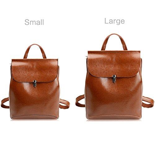 Zicac Convertible Shoulder Girls Bag Purses for Backpacks Leather Brown Bag School wqBxBCr
