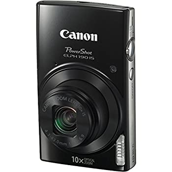 Canon Powershot Elph 190 Is Digital Camera (Black) With 10x Optical Zoom & Built-in Wi-fi With 32gb Sdhc + Flexible Tripod + Acdc Turbo Travel Charger + Replacement Battery + Protective Camera Case 3